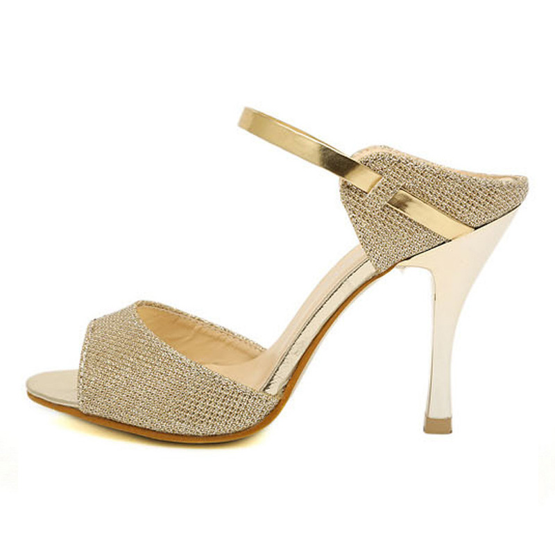 ba85e23399e Summer Women Sandals Fashion Gold Silver High Heels Sandals Beautiful Women  Shoes Open Toes-in High Heels from Shoes on Aliexpress.com