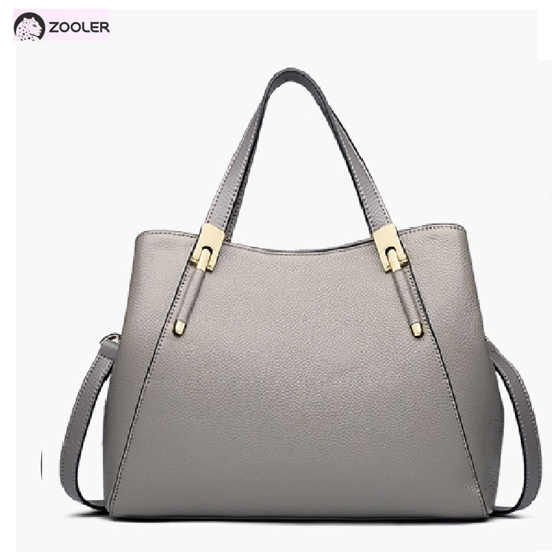 ZOOLER Female genuine leather bags women Fashion shoulder bags High quality Cow leather tote bags luxury