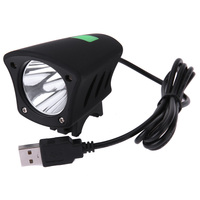 T6 Lamp Bead USB Bike Front Head Light Bicycle Riding Night Lighting Bulb 7000k