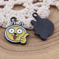 yage 20*16mm 100pcs alloy cartoon enamel charms for jewelry making diy