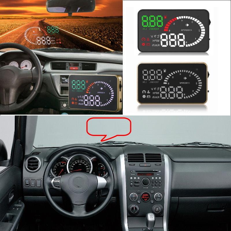 Liislee Car HUD Head Up Display For Suzuki Grand vitara Swift SX4 Jimny Vitara - Safe Screen Projector / OBD II Connector все цены