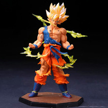 Dragon Ball Z Son Goku Super Saiyan Anime Figure Model Toys 18cm Dragonball Action Figure Cartoon Doll Toys Free Shipping