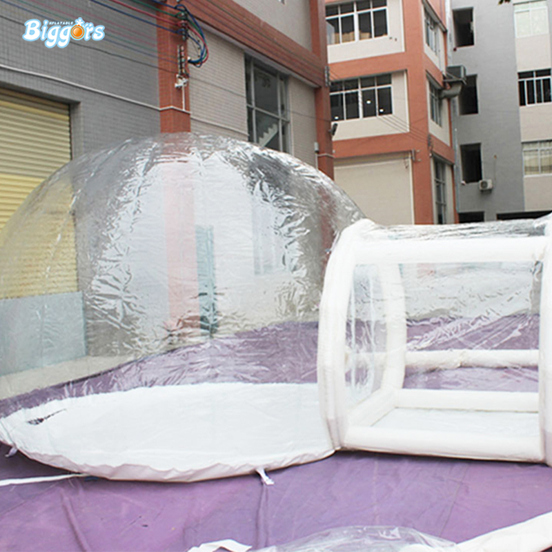 Outdoor Inflatable Transparent Bubble Tent Clear Camping Tent Bubble Tent with blowers for sale