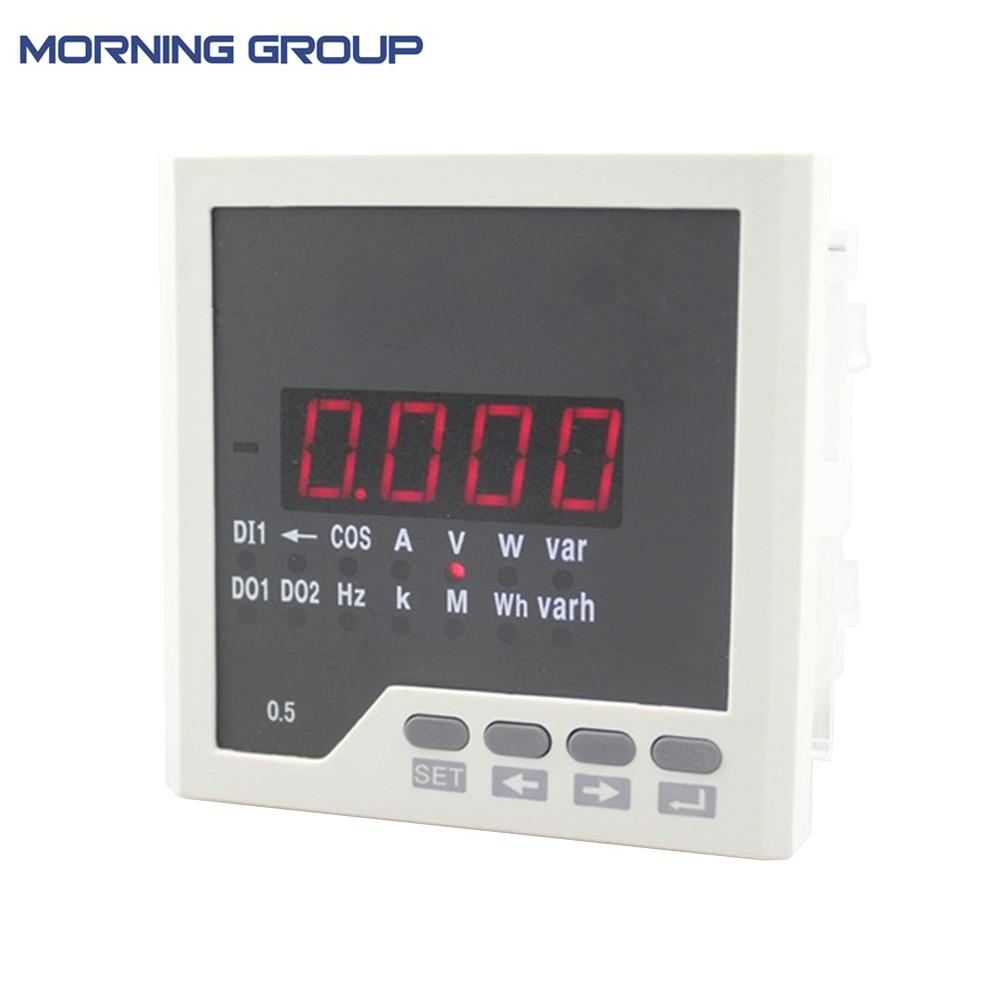 D3 factory price panel size 96*96 digital ammeter voltmeter multimeter with rs485 for distribution box AC220V цены