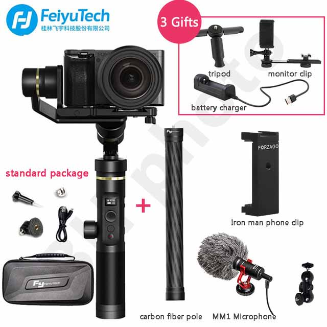FeiyuTech Feiyu G6 Plus Splashproof Handheld Gimbal Stabilizer for Smartphone Gopro hero Mirrorless cameras sony as6000