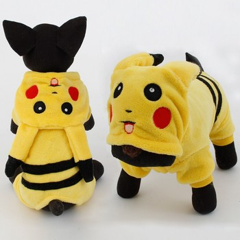 New Arrival Dogs Clothes Cute Cartoon Pikachu Design Cosplay Pets Costume Dog Clothing For Cats Puppy