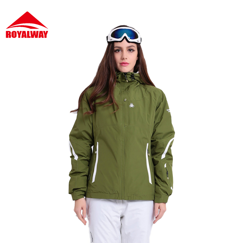 ROYALWAY Women Ski Jacket Outdoor Waterproof Windroof Snowboard Jacket Free Shipping Winter High Quality Safety#RFSL4492G ...