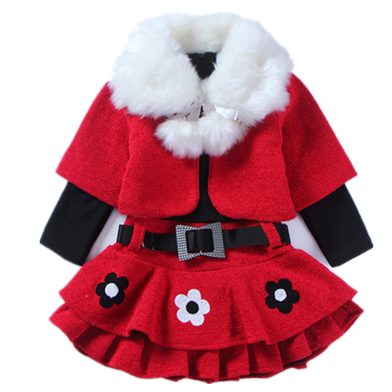 2018 Fur Teenage Girls Christmas Dress Long Sleeve Tutu Princess Dresses For Girl Elegant Toddler Kids Winter Autumn Clothes 12 europe kids 2018 autumn winter girls dress long sleeve dot christmas princess dresses elsa vestido infantil dress girl clothes