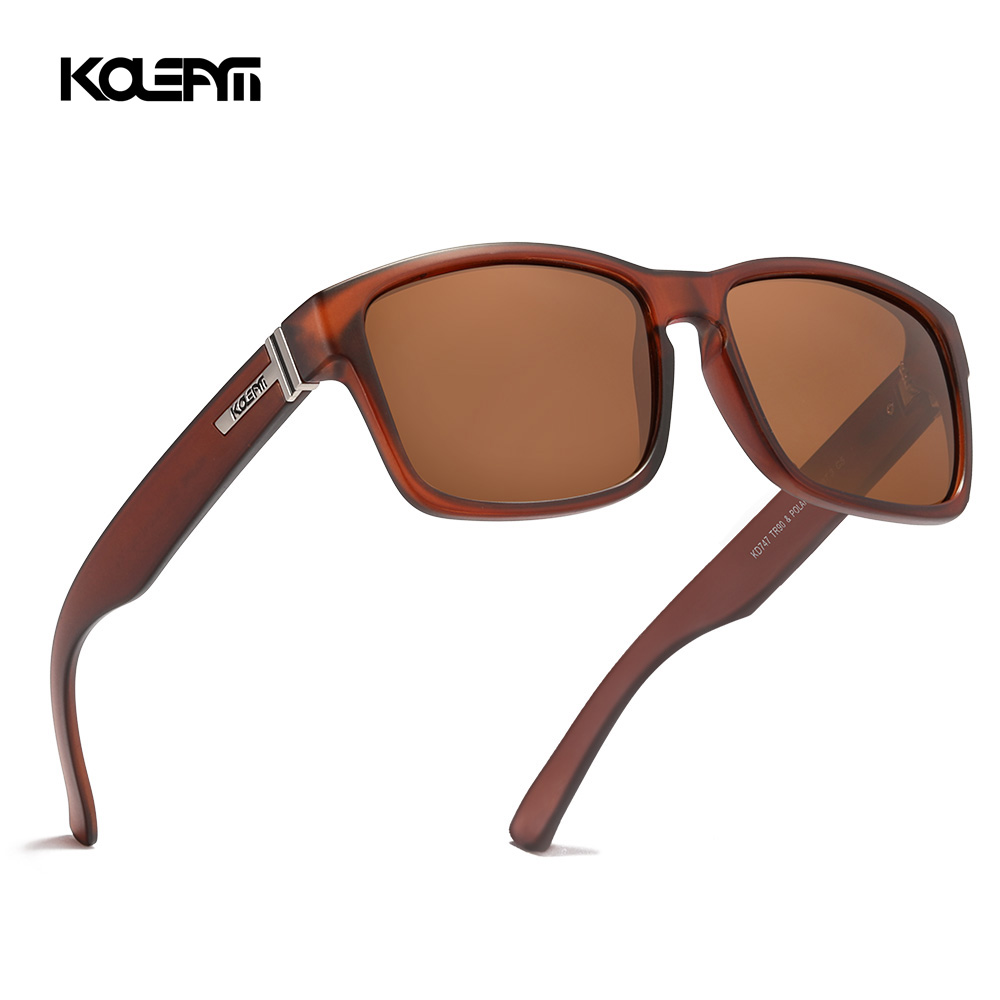 KDEAM Classic Polarized Sunglasses Men 100% UV Protection TR90 Unbreakable Frame Square Oversized Outdoor Eyewear Women KD747 C5
