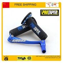 MX Dirtbike Cross Pro коническая ручка ручки+ синий сплав рычаг переключения передач dirt pit bike аксессуары для мотоциклов