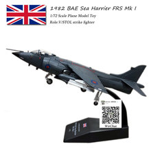 лучшая цена AMER 1/72 Scale Military Model Toys 1982 BAE Sea Harrier FRS. Mk1 Fighter Diecast Metal Plane Model Toy For Collection,Gift,Kids