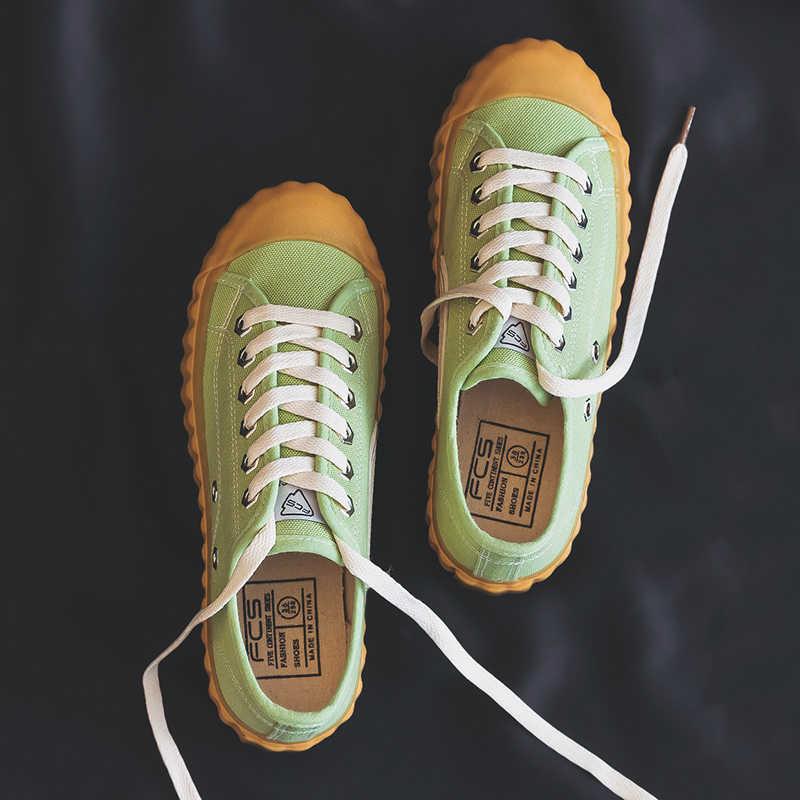 Женская Повседневная парусиновая обувь однотонные кроссовки на плоской подошве