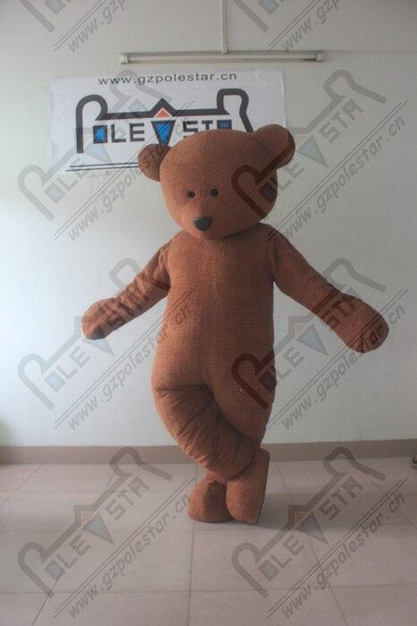 EVA huvud tecknad brunt björn maskot kostymer fluffigt plysch - Maskeradkläder och utklädnad
