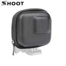 Bắn Cho GoPro Hero 9 8 7 5 Đen Mini EVA Bảo Vệ Lưu Trữ Túi Hộp Ốp Cho Đi Pro anh Hùng 8 7 5 Đen Phụ Kiện Bạc