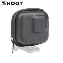 SHOOT estuche protector para GoPro Hero 9, 8, 7, 5, negro, Mini EVA, estuche protector para almacenamiento, caja de montaje para Go Pro Hero 8, 7, 5, accesorios de plata negra