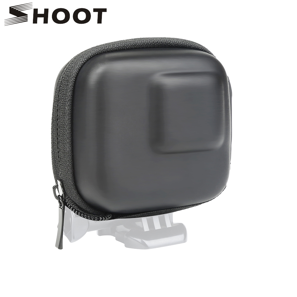 SHOOT for GoPro Hero 8 7 6 5 Black Mini EVA Protective Storage Case Bag Box Mount for Go Pro Hero 7 8 5 Black Silver Accessories-in Sports Camcorder Cases from Consumer Electronics