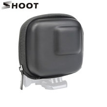 SHOOT for GoPro Hero 8 7 6 5 Black Mini EVA Protective Storage Case Bag Box Mount for Go Pro Hero 7 8 5 Black Silver Accessories(China)