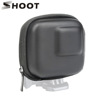 цена SHOOT for GoPro Hero 8 7 6 5 Black Mini EVA Protective Storage Case Bag Box Mount for Go Pro Hero 8 7 5 Black Silver Accessories онлайн в 2017 году