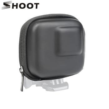 SHOOT for GoPro Hero 8 7 6 5 czarny Mini etui do przechowywania EVA torba do montażu w pudełku dla Go Pro Hero 8 7 5 czarne srebrne akcesoria tanie i dobre opinie Storage Case Box for GoPro Xiaomi Yi Sjcam Eken Dji Osmo Action Camera Ciężka torba Pakiet 1 XTGP521 Storage Box for GoPro