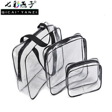 2017 Hot Makeup Cosmetic Wash Bathing Supplies Storage Bag Travel Essential Transparent Waterproof Toiletry PVC Pouch S427