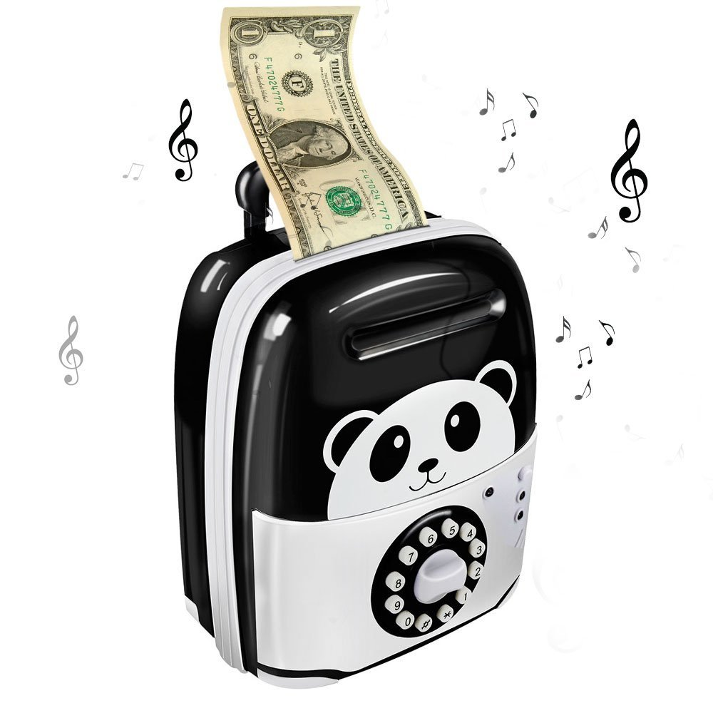 8816226e4 Large Piggy Bank Panda hello Kitty ATM Electronic Saving Password Safe Cash  Box for money Cat Coin Bank hucha alcancia for Kids