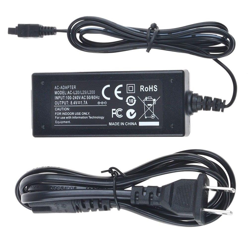 AC Adaptateur Chargeur pour Sony Handycam DCR-SX30E, DCR-SX31E, DCR-SX40E, DCR-SX41E, DCR-SX43E, DCR-SX44E, DCR-SX45E, DCR-SX50E