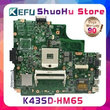 цена на KEFU K43S For ASUS K43SD K43E A43S REV:2.2 laptop motherboard tested 100% work original mainboard