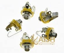 Pack of 5 Stereo Electric Guitar Jacks 1/4″ 6.35mm Stereo Jack Sockets Chrome