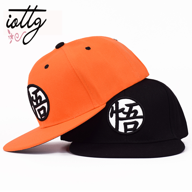 2b0424e161a IOTTG 2018 New Dragon Ball Z Goku Snapback Caps Cool Hat Adult Letter  Baseball Cap Bboy Hip-hop Hats For Men Women
