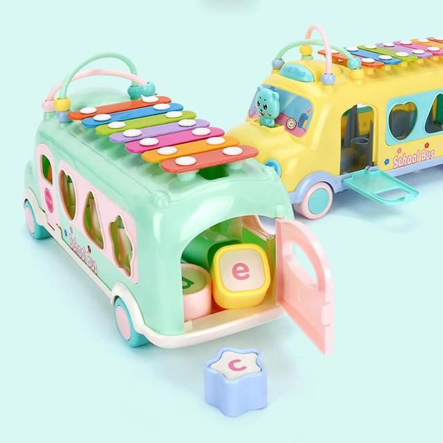 Kid's Pastel Color Musical Bus Toy