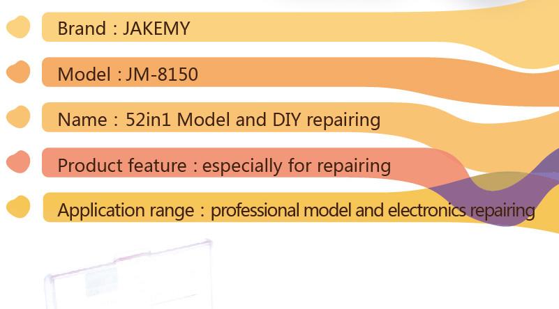 Купить JAKEMY JM-8150 Ноутбук Набор Отверток Профессиональный Ремонт Ручной Инструмент Комплект для Мобильного Телефона Компьютер Электронная Модель DIY Ремонт дешево