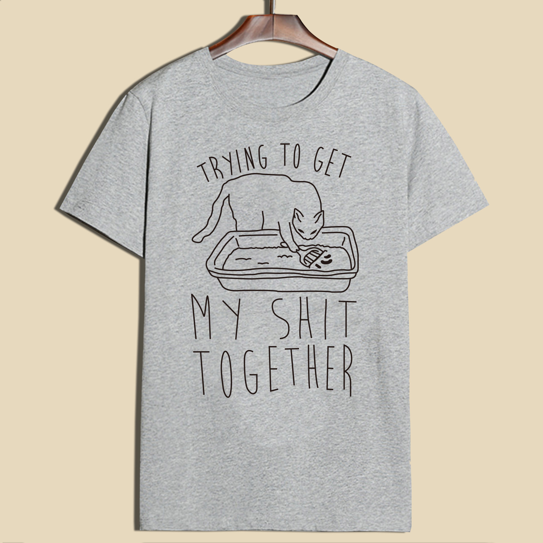 cat print t shirt