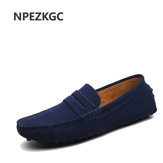 Summer Style Soft Moccasins Men Loafers Genuine Leather Shoes Men Flats Gommino Driving Shoes