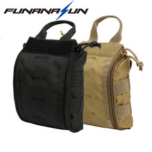 1000D Nylon Military Waist Bag Rip-Away EMT Medical First Aid Utility Pouch  with Buckle Strap for Tactical Vest Belt Backpack