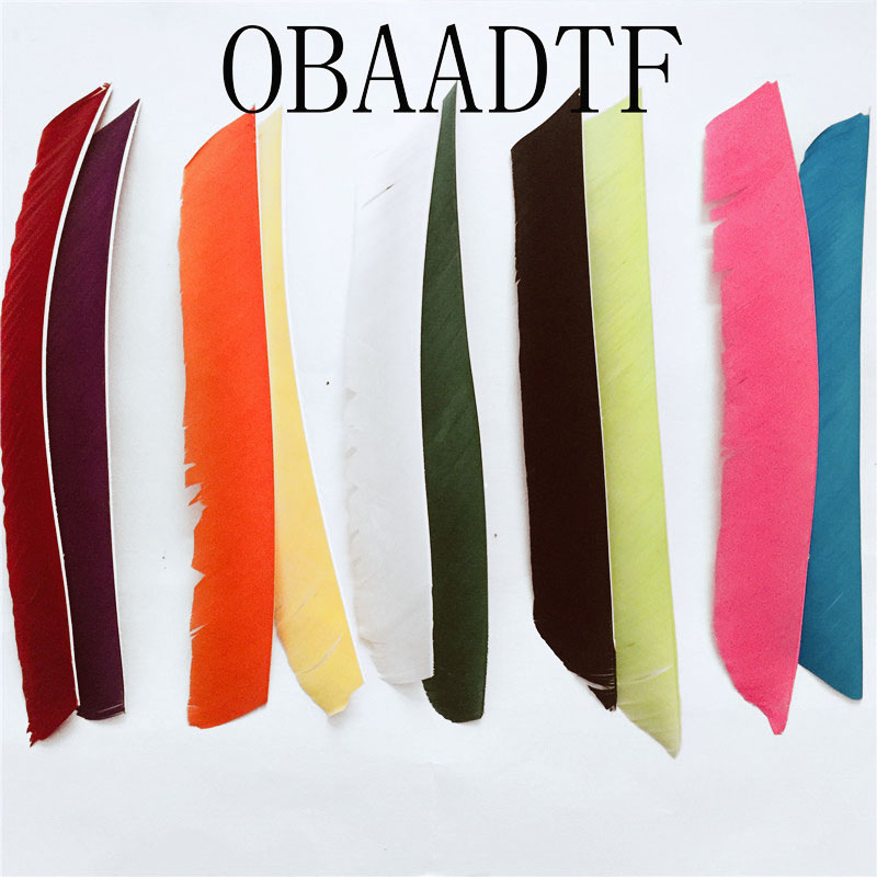 100pcs 18~25cm Multicolor Full Length Real Turkey Feather For Archery Hunting And Shooting Arrow New Arrivals