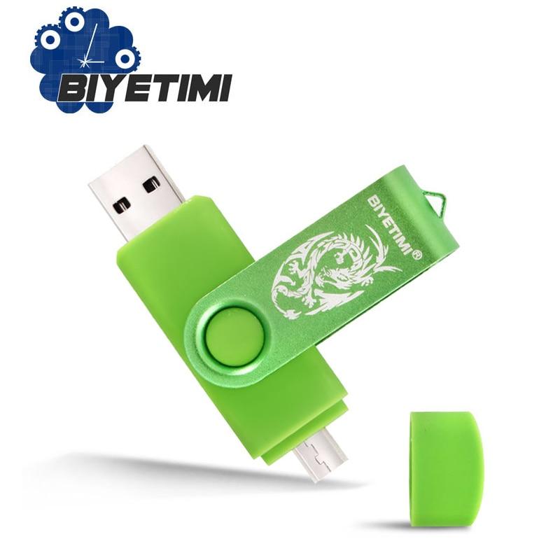 Biyetimi Dragon USB Flash Drive 4GB 8GB 16GB 32GB 64GB Corlorful OTG Phone Daul Pen Drive Memory USB Stick Pendrive Flash Drive