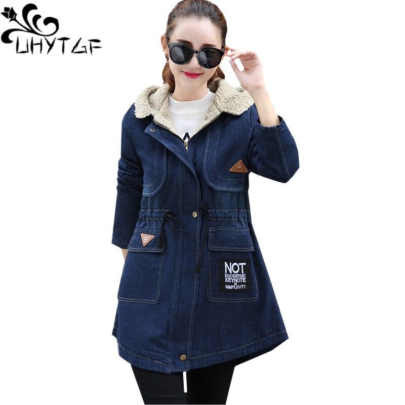 Femmes Plus La Navy Parka Jeans Veste Épaissir D'hiver Blue 968 Denim Taille Le Uhytgf Casual Mode Chaud Manteau Coton Velours byfY6gI7v