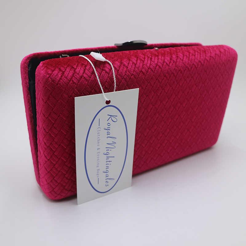 1419fe2cb4c6 ... Королевский соловьи ткань бархат замши жесткий клатч сумки вечерние  сумки и Сумки для женщин красный/ ...