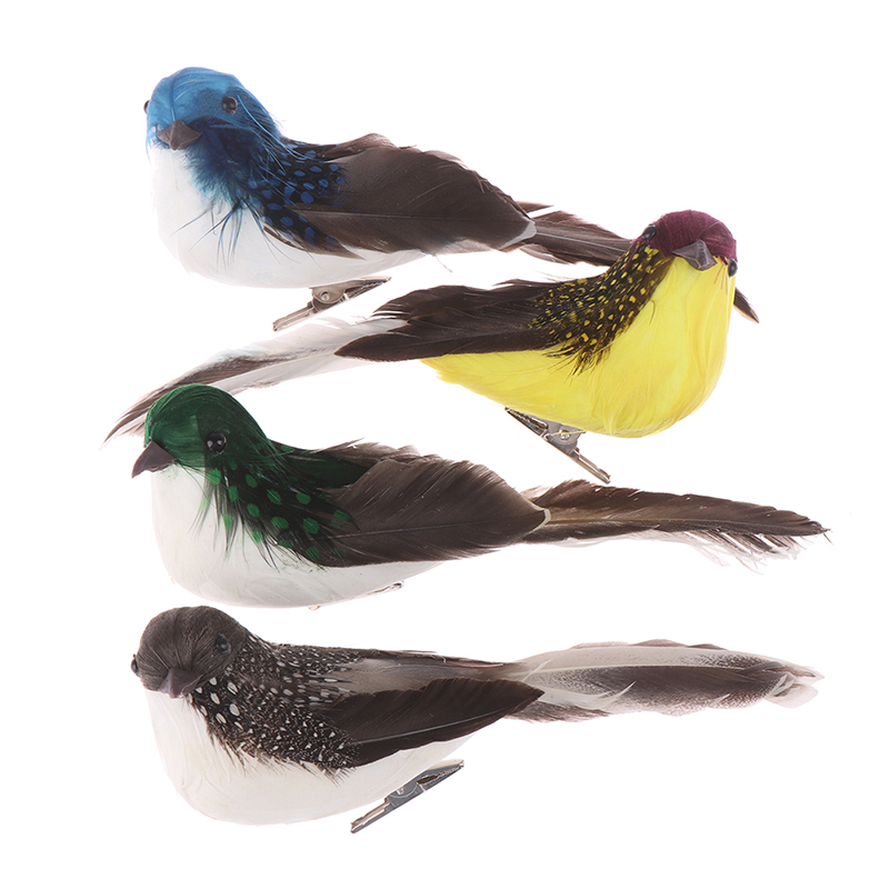 1pc Fake Craft Birds Artificial Foam Feathers Mini Bird,Decoration Mariage Table,Birthday Party Decorations Kids,Wedding 15