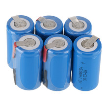 10 Pieces/Lot 22*42mm Sub C SC Rechargeable Battery 1.2V 1800mAh NI-CD Batteries With PCB For Electronic Tools