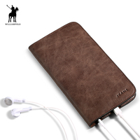 WILLIAMPOLO 2017 New Design Leather Slim Wallet Card Holder Phone Case Wallet For Men POLO181