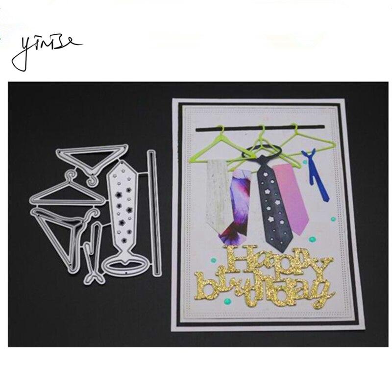 DIY Hanger Ties Cutting Dies Stencil Scrapbooking Album Paper Card Embossing