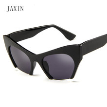 JAXIN Personality Half Sunglasses Women Trends New Lady Sun Glasses Brand Design Fashion Colorful UV400gafas de sol muje