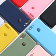 Case for Huawei Y7 2018 Cases For huawei Prime Cover Candy Color Soft TPU Covers Y 7 Phone