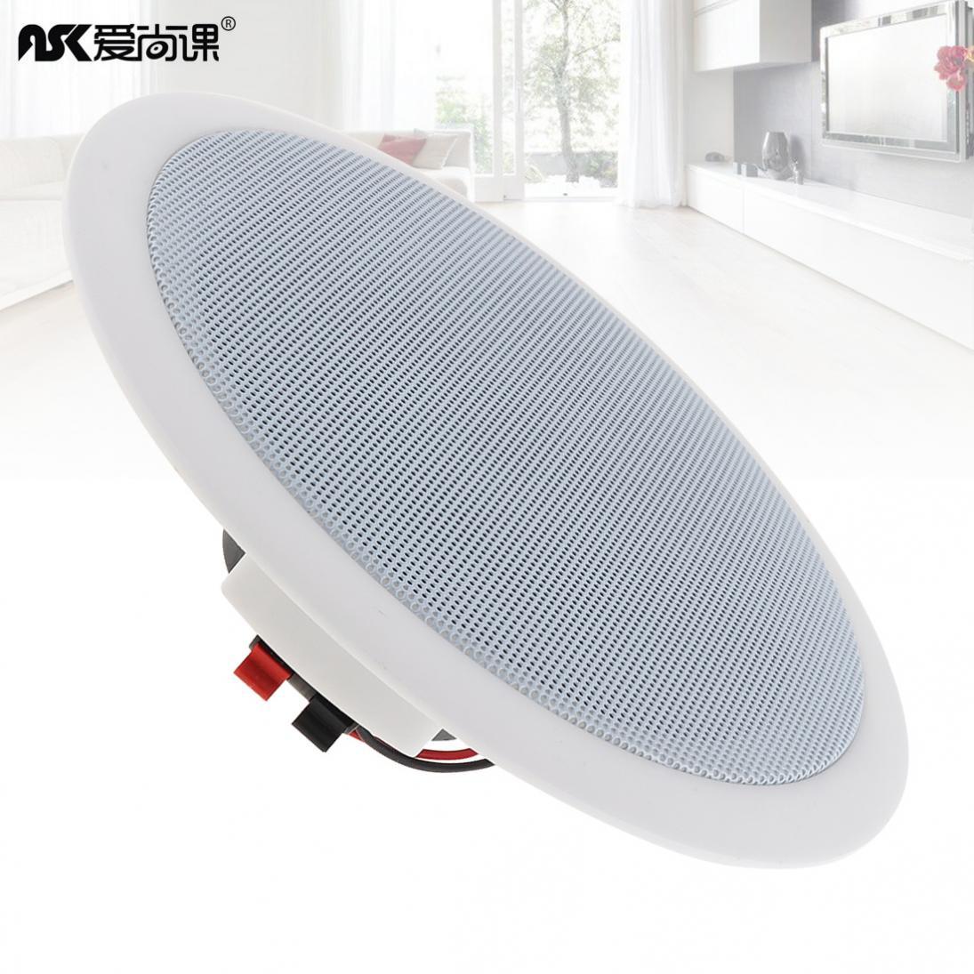 ASK-515 5 дюймов 5 Вт потолочный динамик для общественного вещания фоновый музыкальный динамик для дома/супермаркета/ресторана