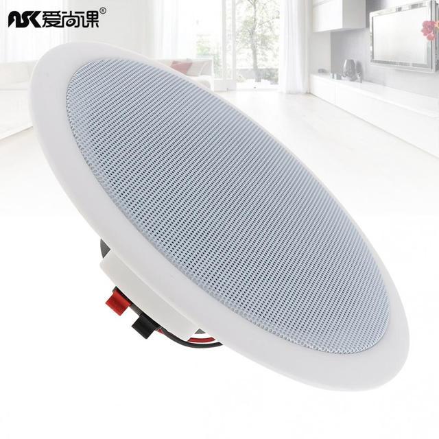 ASK 515 5 inç 5W tavan hoparlör kamu yayın arka plan müzik hoparlörü ev/süpermarket/restoran