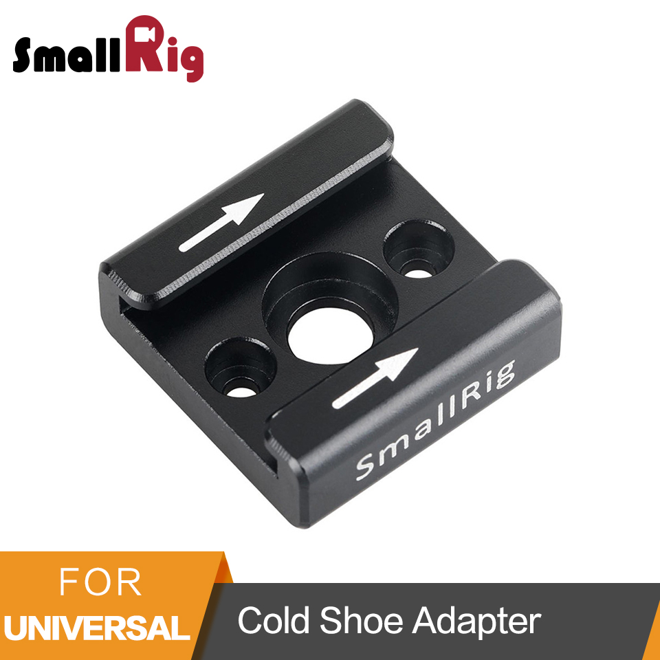 SmallRig Cold Shoe Adapter Standard Shoe Type 1/4 and M2.5 Screw Hole Camera Accessories - 1241