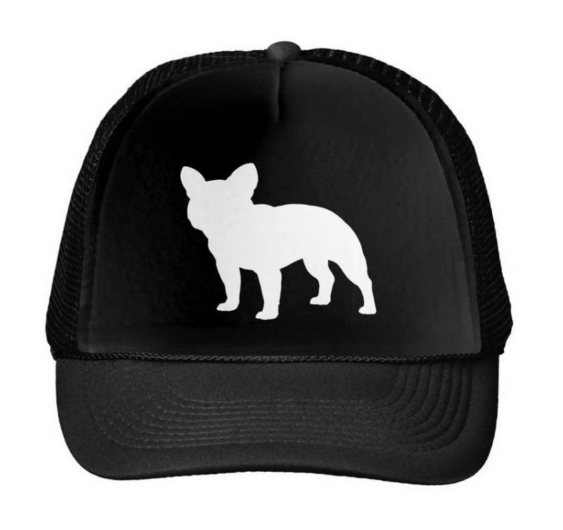 French Bulldog Letters Print Baseball Cap Trucker Hat For Women Men Unisex Mesh Adjustable Size Black White Drop Ship M-42 hot sale adjustable men women peaked hat hiphop adjustable strapback baseball cap black white pink one size 3 colors dm 6