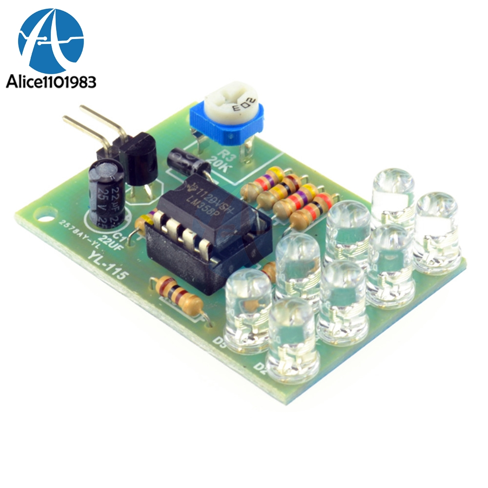 8pcs 5mm Bright Blue Led Lm358 Breathe Light Lamp Flicker Flashing Flickering Amplifier Circuit Parts Suite Electronic Components Supplies Module Board In Integrated Circuits From