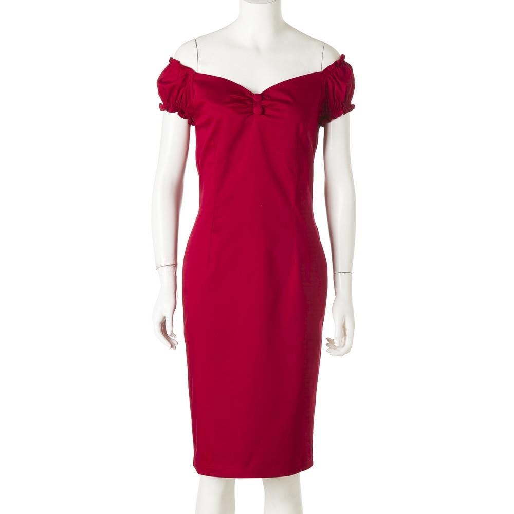 finest selection 39e93 235e0 US $34.86 |2018 di estate di nuovo modo 50 s vestiti di stile di  ispirazione vintage pin up abbigliamento rockabilly elegante abiti rossi  per la ...